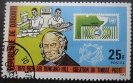 DJIBOUTI N°499 SIR ROWLAND HILL Oblitéré - Rowland Hill