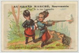 Au Grand Marché . Nouveautés Rue Legendre (Paris). Il N'y A Que Le Premier Pas Qui Coûte . Cantinière Et Soldat . - Autres