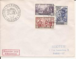 ALGERIE LOT DE 2 ENVELOPPES PREMIER JOUR ALGER SEISME DU 9 SEPTEMBRE 1954 - Lettres & Documents