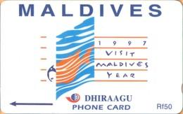 Maldives - GPT, Visit Maldives 1997, Advertisement, 164MLDD, 2/00, Used - Maldiven