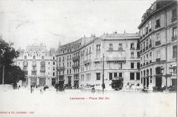 LAUSANNE → Place Bel Air Mit Tram Anno 1902 - VD Vaud