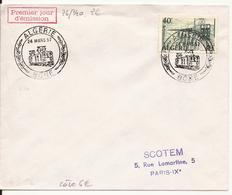 ALGERIE ENVELOPPE PREMIER JOUR BONE 24 MARS 1957 - Lettres & Documents