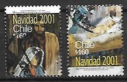 CHILI   -   2001 .  Noël.  Nativité  /   Créche.  Oblitérés - Chile
