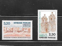 OA 8637 / FRANCE 1990 Yvert 102 à 103 / UNESCO - Servizio