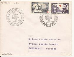 ALGERIE ENVELOPPE PREMIER CROIX-ROUGE FRANCAISE 1954 - Lettres & Documents
