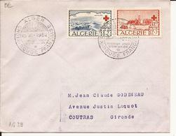 ALGERIE ENVELOPPE PREMIER JOUR CROIX-ROUGE FRANCAISE ALGER 1952 - Lettres & Documents