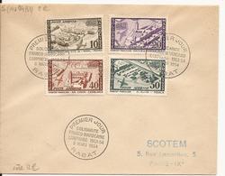 MAROC ENVELOPPE PREMIER JOUR SOLIDARITE FRANCO-MAROCAINE RABAT 1954 - Algérie (1924-1962)