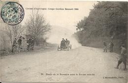 *CIRCUIT D'AUVERGNE. COUPE GORDON BENNETT 1905. ROUTE DE LA BARAQUE SOUS LA ROCHE PERCEE - Bus & Autocars