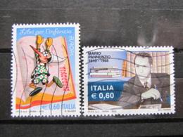 *ITALIA* USATI 2010 - PINOCCHIO PANNUNZIO - SASS 3166 3154 - LEGGI - 6. 1946-.. Repubblica