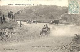 *CIRCUIT D'AUVERGNE. COUPE GORDON BENNETT 1905. TOURNANT DU GENDARME - Bus & Autocars