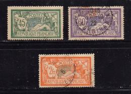 1907 - FRANCIA - Cat. Yvert E Tellier N° 143 - 144 - 145 / 45 - 60 Cent. 2 Fr. - Usati - Used Stamps