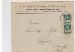 J. SCHNEIDER Tonnelier, Nyon, Lettre Commerciale - Vins & Alcools