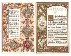 2 Images Pieuses - Enluminure- Le Pain Des Anges...année 1883  Et Heureuse L'ame Qui A Su .... - - Santini