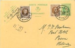 Belgique.  CP 79 I + TP 196 & 203  Antwerpen 1  > Baarn (Pays-Bas)  1927 - 1922-1927 Houyoux