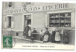 CHANGIS - AVON - Café, Restaurant, Vins, Epicerie HOUDRAY - Place Du 14 Juillet - France