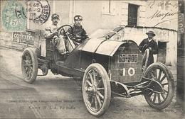 *CIRCUIT D'AUVERGNE. COUPE GORDON BENNETT 1905. N°10 CAGNO ( FIAT ) ITALIE - Bus & Autocars