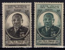 COTE DES SOMALIS Poste 262 Et 263 ** MNH Gouverneur Félix EBOUE - French Somali Coast (1894-1967)