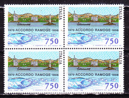 Italia 1996 -Ramoge_quartina Nuova  Imperfezioni Nella Gomma - 1991-00: Nieuw/plakker