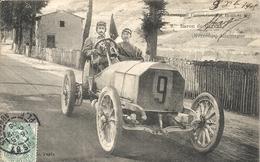 *CIRCUIT D'AUVERGNE. COUPE GORDON BENNETT 1905. N°9 BARON DE CATERS ( MERCEDES ) ALLEMAGNE - Bus & Autocars