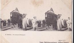 BISKRA UN ATTOUCH   VUES STEREOSCOPIQUESS JULIEN DAMOY SERIE N. 9 AUTENTICA 100% - Cartoline Stereoscopiche