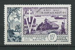 COTE DES SOMALIS 1954 . Poste Aérienne N° 24 . Neuf * (MH) . - Costa Francese Dei Somali (1894-1967)