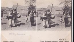 BISKRA DANSEUR ARABE  VUES STEREOSCOPIQUESS JULIEN DAMOY SERIE N. 9 AUTENTICA 100% - Cartoline Stereoscopiche