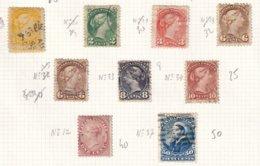CANADA - Bon Lot Entre 1859 Et 1893 Oblitéré - Usati