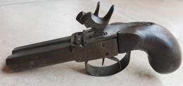 Pistolet Double à Coffre à Percussion - Armes Neutralisées