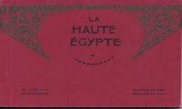 La Haute Egypte Carnet Complet 24 Vues 1913 Luxor Karnak Thebes Memphis Assuan Island Philae - Egypte