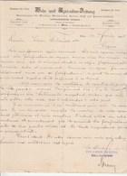 Autriche Facture Lettre 4/2/1895 REIN & AGRICULTUR ZEITUNG WIEN - Austria