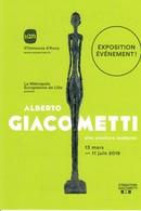 Carte Musée LAM Villeneuve Ascq  Alberto Giacometti  13 Mars 11 Juin 2019 - Autres