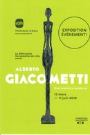 Carte Musée LAM Villeneuve Ascq  Alberto Giacometti  13 Mars 11 Juin 2019 - Cartes