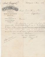 Suède Facture Lettre Illustrée 6/3/1906 Axel BAGGE Viner & Spirituosa Ponsch GÖTEBORG - Factures & Documents Commerciaux