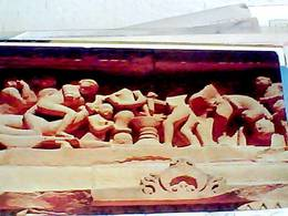 4 CARD INDIA KAMASUTRA EROTIC SCULPTURE KHAJURAO N1975 HB8465 - India