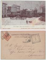 Rocca Di Papa - Piazza Margherita Coperta Di Neve, 1901 - Altre Città