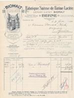 Suisse Facture Lettre Illustrée Nains 8/2/1913 BIOMALT Fabrique Suisse De Farine Lactée BERNE - Suisse