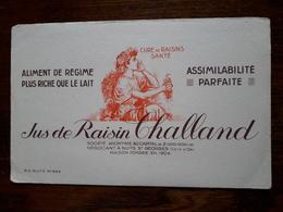 L18/97 Buvard. Jus De Raisin Challand. Nuits St Georges - Alimentare