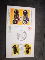 FRANCE FDC Enveloppe 1er Jour CYLINDREES & CARENAGES 2002  - Motos Collection Timbre Poste - 2000-2009