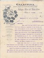 Suisse Facture Lettre Illustrée Angelots 31/3/1903 GALACTINA Farine Lactée Au Lait Pur Des Alpes Suisses BERNE - Suisse