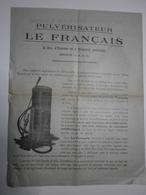 """Agriculture. Publicité Pulvérisateur / Pompe De Charge """"Le Français"""" - Publicités"""