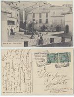 Rocca Di Papa - Piazza Garibaldi, 1908 (inviata A Luciano Morpurgo) - Altre Città