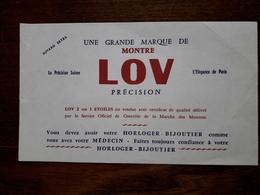 L18/98 Buvard. Montre Lov. - Blotters