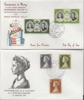 Lot De 2 Enveloppes Commémoratives - Monaco - Caroline - Rainier III - Grace Kelly - Monaco