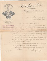 Suisse Facture Lettre Illustrée 14/4/1913 BÜRKI & Cie Exportation Fromages Suisses BERNE - Switzerland
