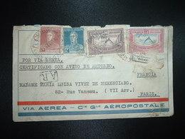 LR AR Par Avion Pour La FRANCE TP SERVICIO AEREO 1,08 P + TP 90c + 24c + TP 12c OBL.26 ABR 29 BS AIRES - Argentine