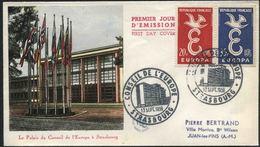 1958 Europa C.E.P.T., F.D.C. Francia - Europa-CEPT
