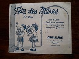 L18/99 Buvard. Orfleurs. Fête Des Meres - Blotters