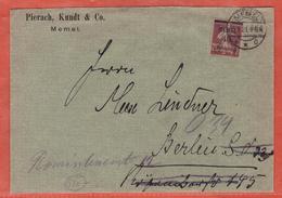 MEMEL LETTRE DE 1921 DE MEMEL POUR BERLIN ALLEMAGNE - Lettres & Documents