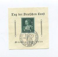 1939 3.Reich Tag Der Dt. Kunst Kleines Seltenes Gedenkblatt Mit Entspr. Sondermarke Minr 700 Mit SST München - Deutschland