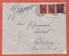 MEMEL LETTRE DE 1921 DE MEMEL POUR POSTDAM ALLEMAGNE - Memel (1920-1924)